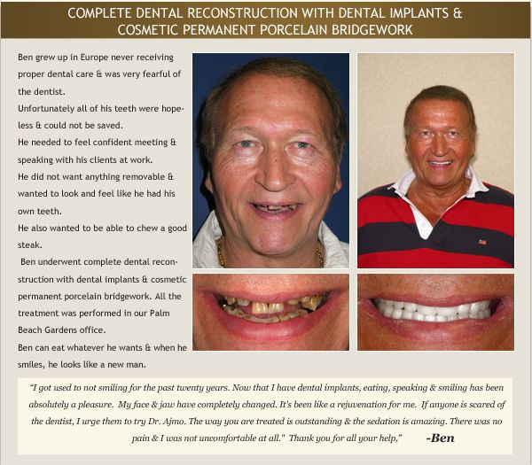 Patient testimonial and photo of patient