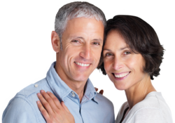 Couple with cosmetic dentistry