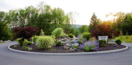 The landscaping outside of our beautiful facility