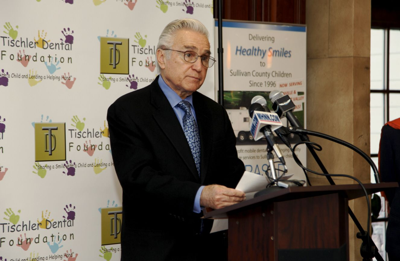 Congressman Maurice Hinchey at the Tischler Dental Foundation announcement