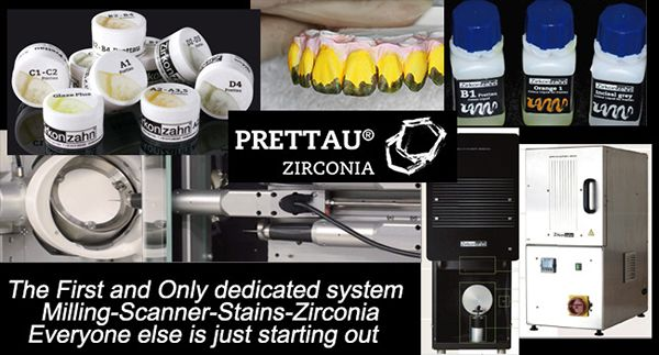 The first and only dedicated system. Milling, Scanner, Stains, Zirconia. Everyone else is just starting out.
