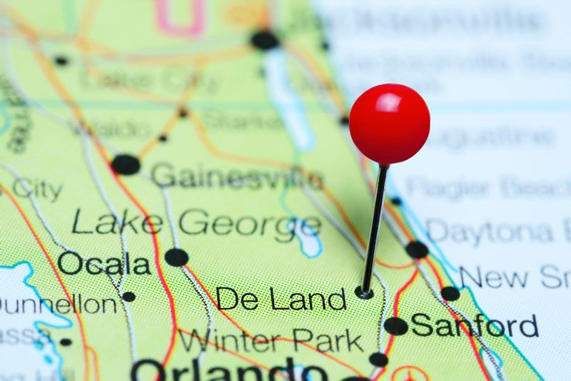 image of DeLand map