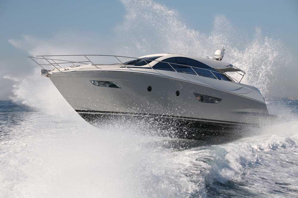 speeding boat