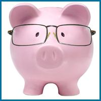 Piggy-bank Wearing Glasses