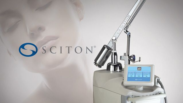 Sciton® laser treatment marketing image.
