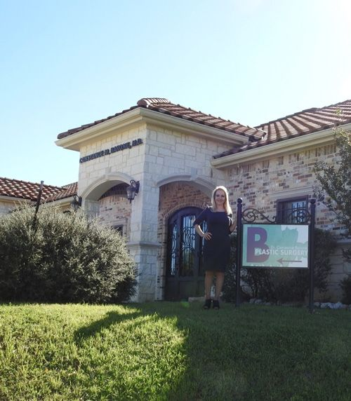 Constance Barone plastic surgery exterior shot with Dr. Barone