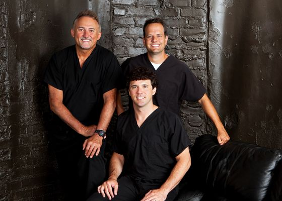 Dr. Steven Kail (back left), Dr. Joseph Leonard (back right), Dr. Chris Arnold (front)