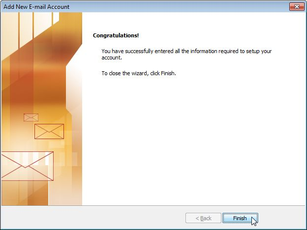 Email Setup - Microsoft Outlook 2007/2010 - Step 8