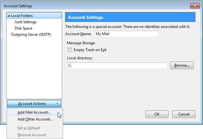 Email Setup - Mozilla Thunderbird - Step 2
