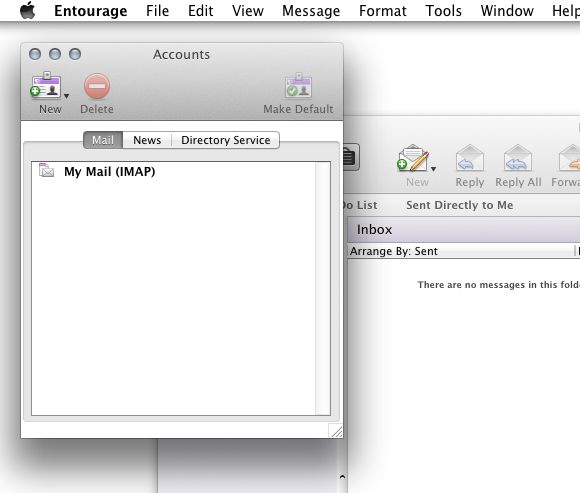 Email Setup - Microsoft Entourage 2008 for Mac - Step 8
