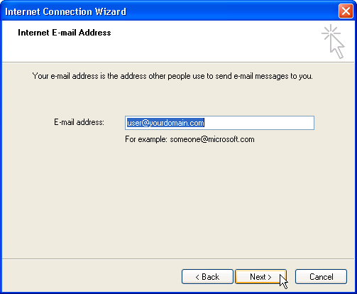 Email Setup - Microsoft Outlook Express - Step 4