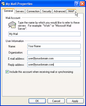 Email Setup - Microsoft Outlook Express - Step 10