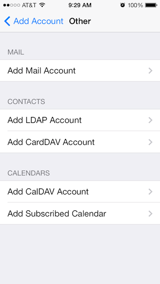Email Setup - Apple iOS 7 - Step 2