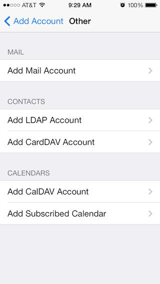 Email Setup - Apple iOS 7 - Step 2