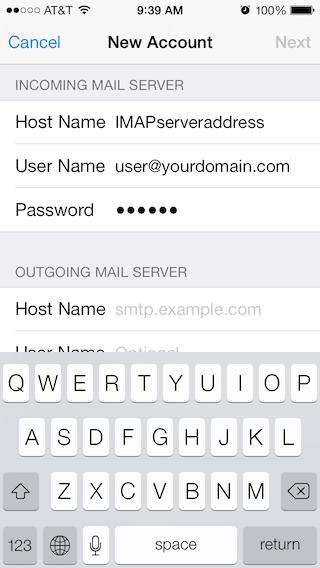 Email Setup - Apple iOS 7 - Step 5