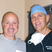 Dr. Andrew Holzman with patient