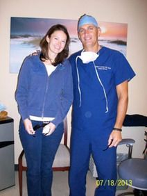 Dr. Holzman with Courtney Shay, OD