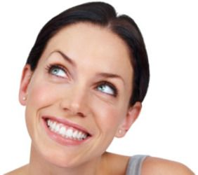 Woman with Dental Veneers Smiling