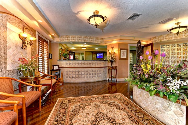 Photo of the reception area for North River Dental