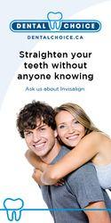 Dental choice Invisalign ad