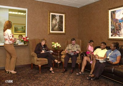 Photo of waiting room at Houston Infertility Center