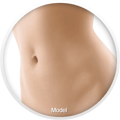A slim female torso