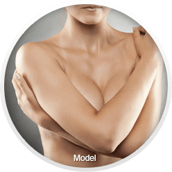 Topless woman with arms folded across chest