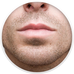 close-up photo of a man's mouth