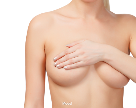 Woman after breast implant consultation