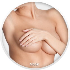 Woman after breast implant revision