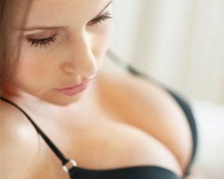 Woman with breast augmentation