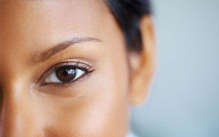African American woman's eye
