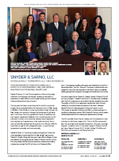 Snyder & Sarno Super Lawyers Coverage