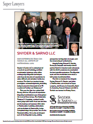 Snyder and Sarno LLC Super Lawyers