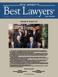 New Jersey's Best Lawyers award for Snyder and Sarno