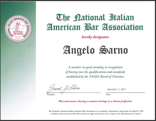 Italian American Bar Association Recognition