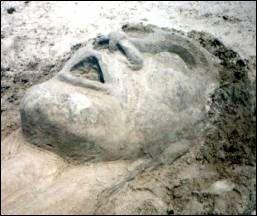 A sculpture of a man