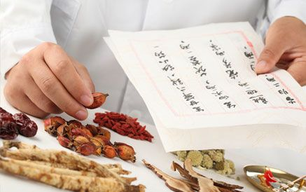 Assorted herbs used in traditional Chinese medicine