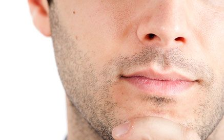 mens facial hair removal
