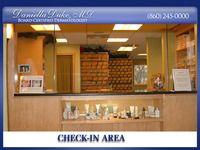 check-in area