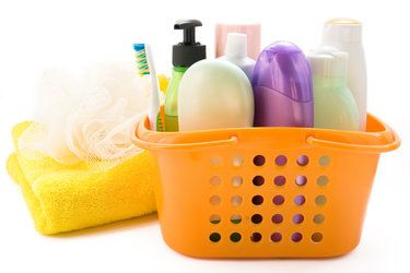 Toothbrush, shampoo, and other toiletries