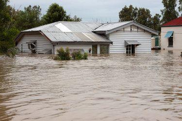 flood-damaged house