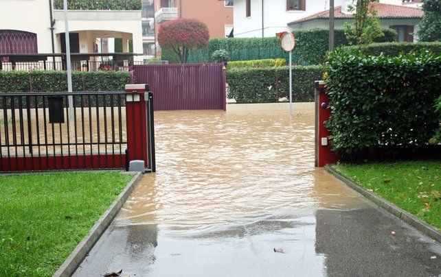flooded entryway to home
