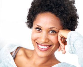 Smiling woman white beautiful teeth