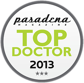 Pasadena Magazine Top Doctor for 2013