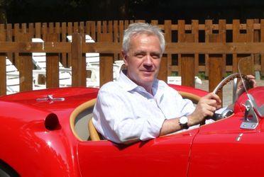 T. Hamann in classic Grand Prix race car