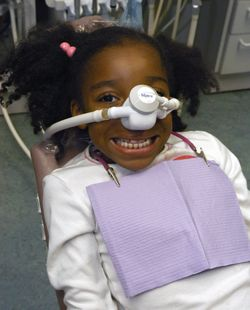 Photo of a child with dental sedation