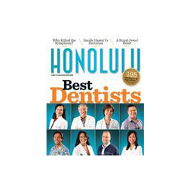 Honolulu Best Dentist magazine cover