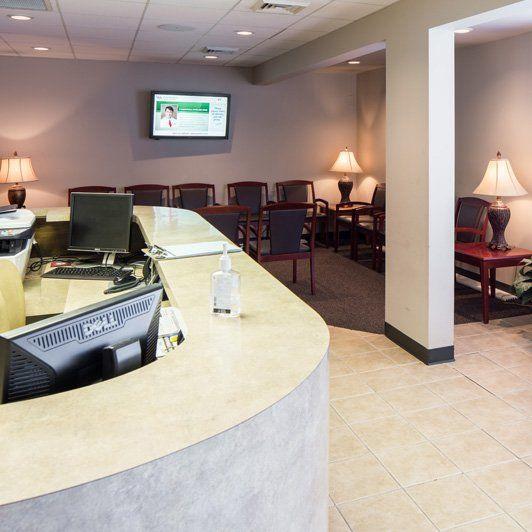 Oral & Maxillofacial Surgery Associates waiting area