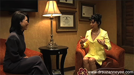 Dr. Suzanne Yee highlights a breast lift case for a patient